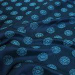 vải lụa satin tơ tằm đồng xu – xanh cổ vịt 2