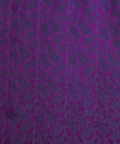 vải lụa satin tơ tằm hoa công - màu tím 2