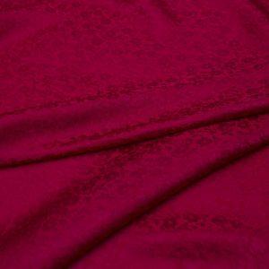 vải lụa satin tơ tằm hoa chanh - màu đỏ 3