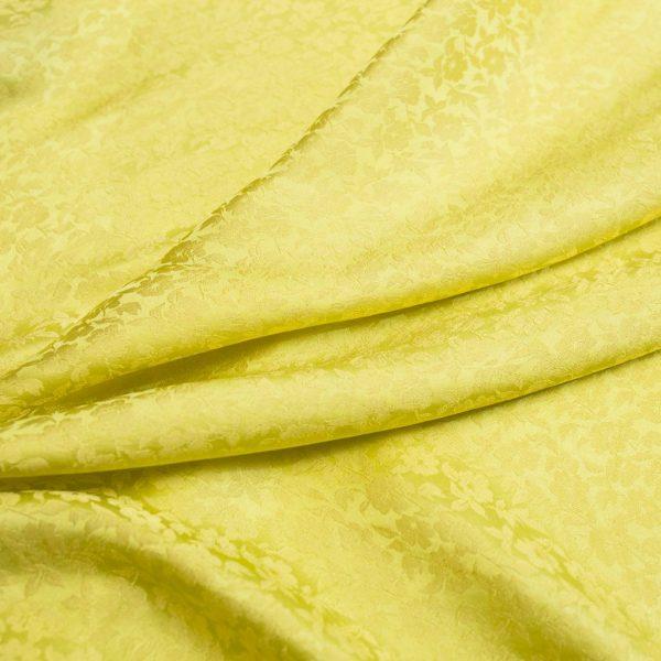 vải lụa satin tơ tằm hoa chanh – màu vàng 3