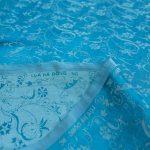 vải lụa satin tơ tằm hoa dây mới – xanh ngọc 2