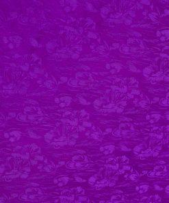 vải lụa satin tơ tằm - hoa mưa tím Huế 2