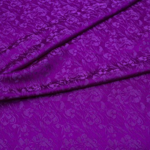 vải lụa satin tơ tằm - hoa mưa tím Huế 3