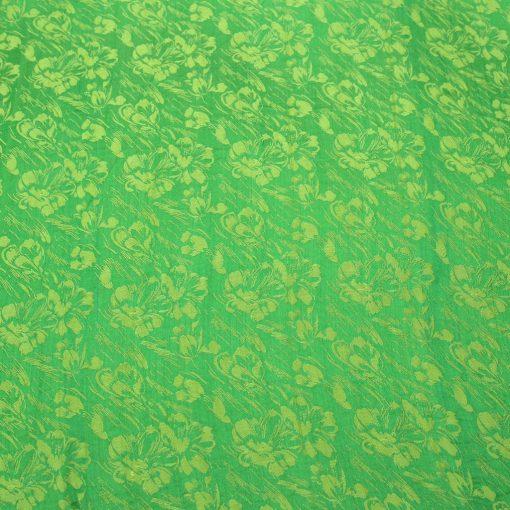 vải lụa satin tơ tằm hoa văn - mưa cốm 2