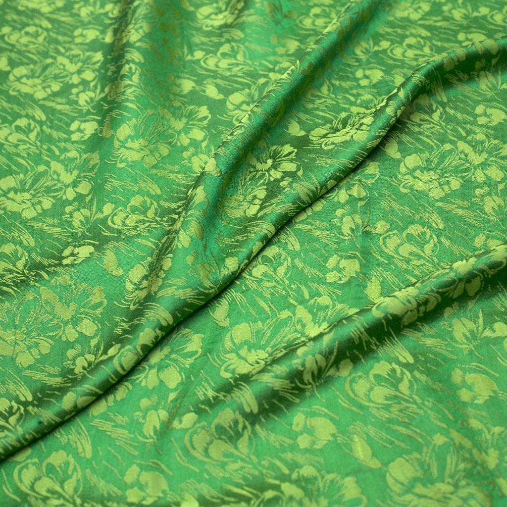 vải lụa satin tơ tằm hoa văn - mưa cốm 3