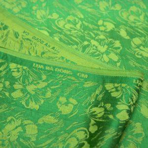 vải lụa satin tơ tằm hoa văn - mưa cốm