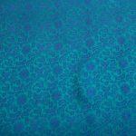 vải lụa satin tơ tằm hoa xoáy – xanh cổ vịt 2
