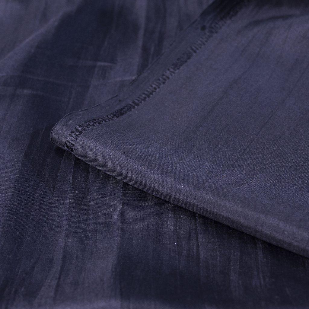 vải lụa satin tơ tằm trơn - đen