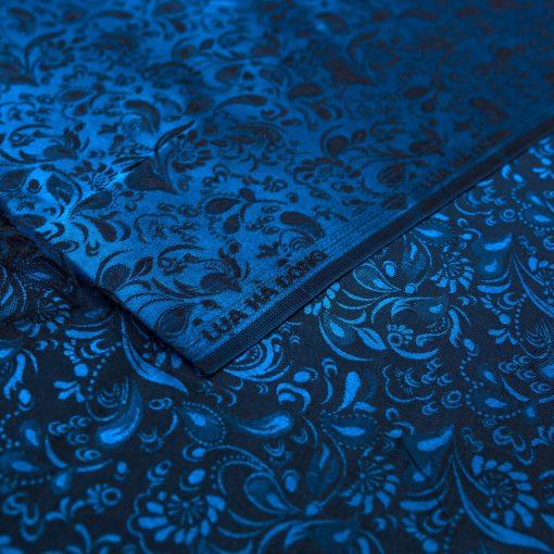 vải lụa satin tơ tằm tuyết mưa - xanh đen