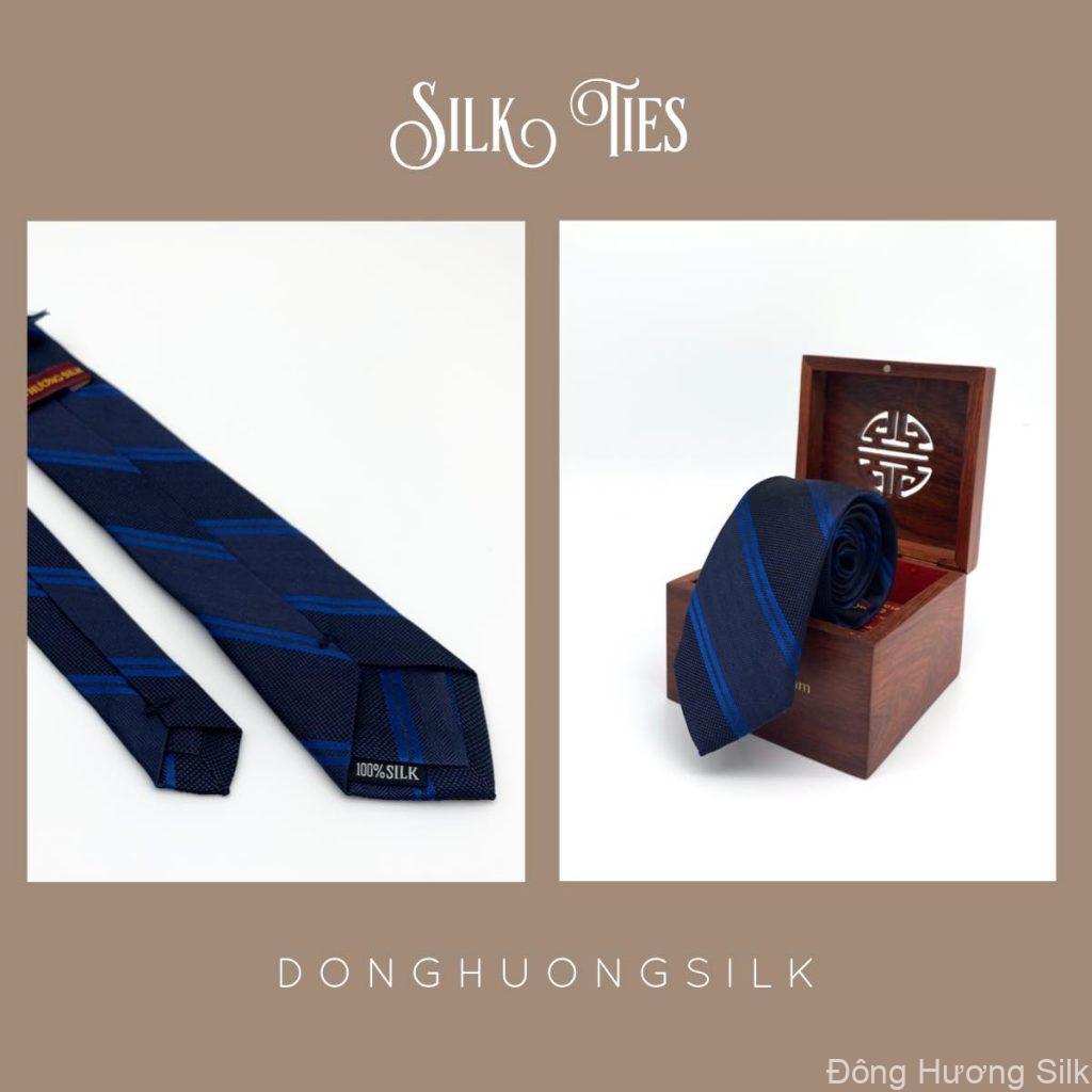 cà vạt lụa tơ tằm Đông Hương Silk collection summer 2020 pic10