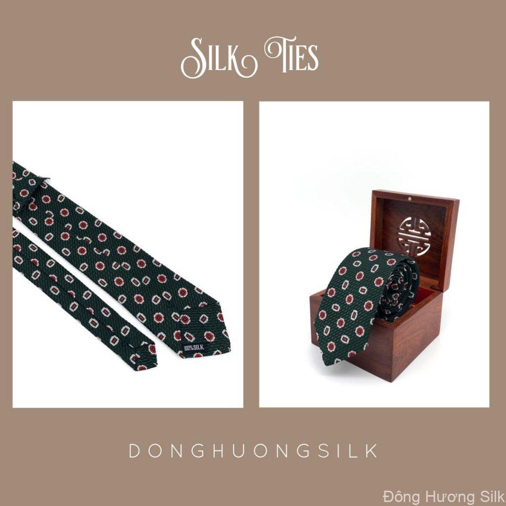 cà vạt lụa tơ tằm Đông Hương Silk collection summer 2020 pic11