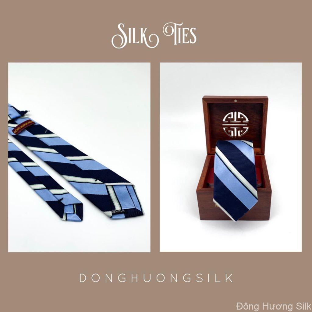 cà vạt lụa tơ tằm Đông Hương Silk collection summer 2020 pic6