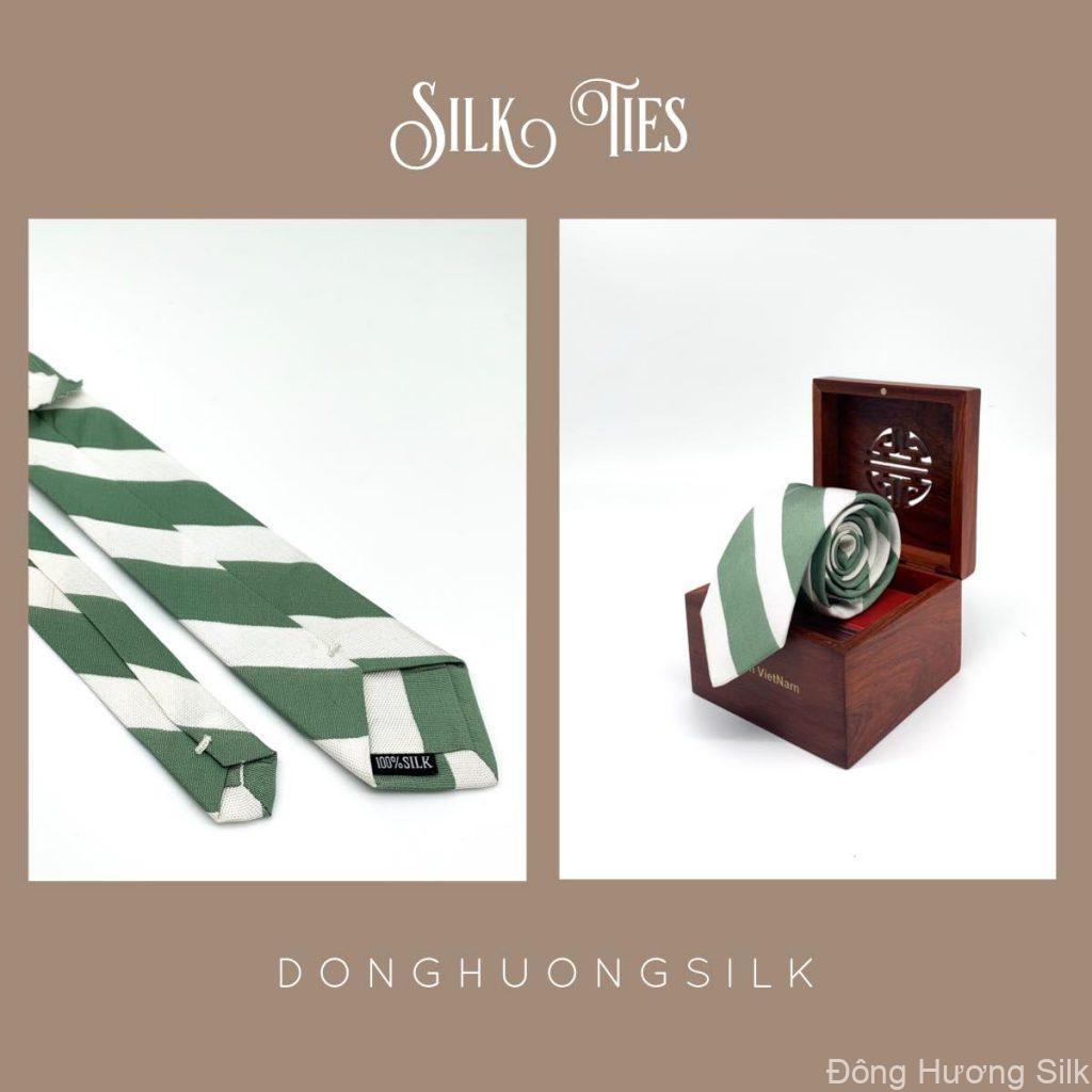 cà vạt lụa tơ tằm Đông Hương Silk collection summer 2020 pic7