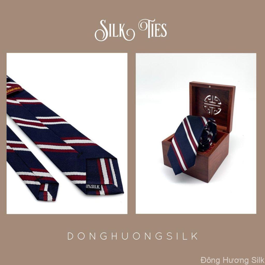 cà vạt lụa tơ tằm Đông Hương Silk collection summer 2020 pic8