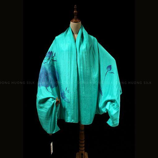 khan-lua-to-tam-ve-tay-nghe-thuat-hoa-sen-mau-xanh-ngoc-dong-huong-silk-3